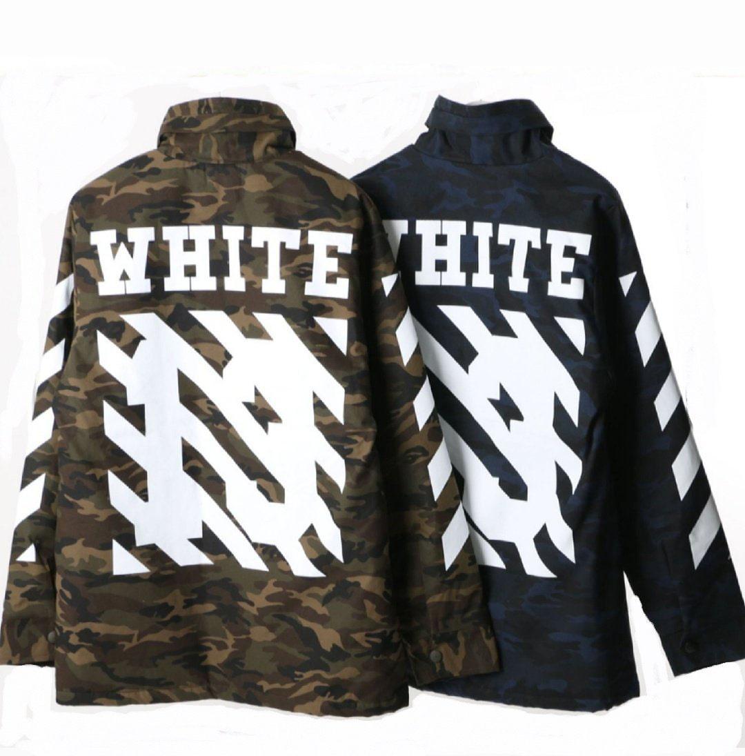 오프화이트 백로고 야상 자켓