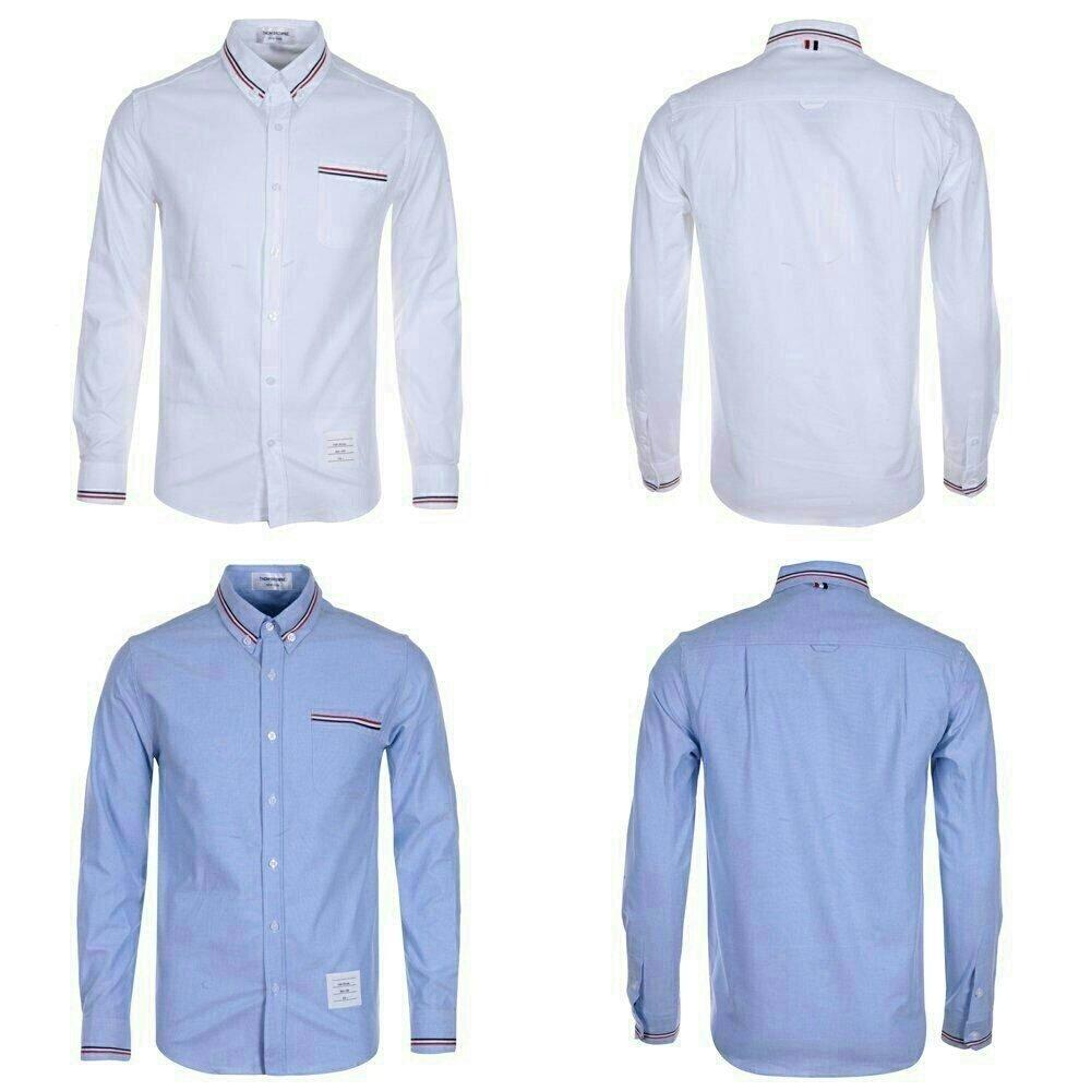 [THOM BROWNE]톰브라운 st. 카라 포켓 삼선 셔츠