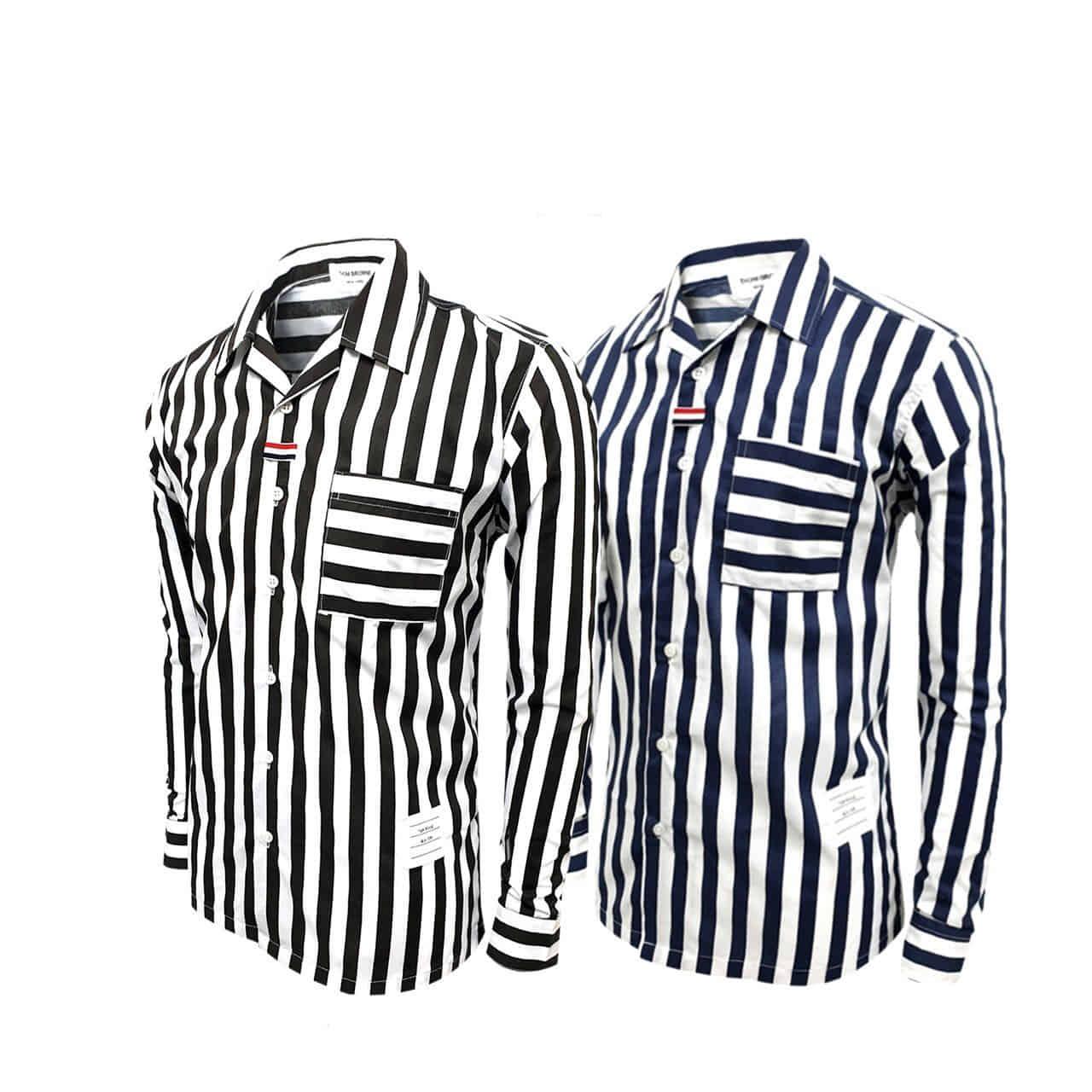 톰브라운 스트라이프 셔츠