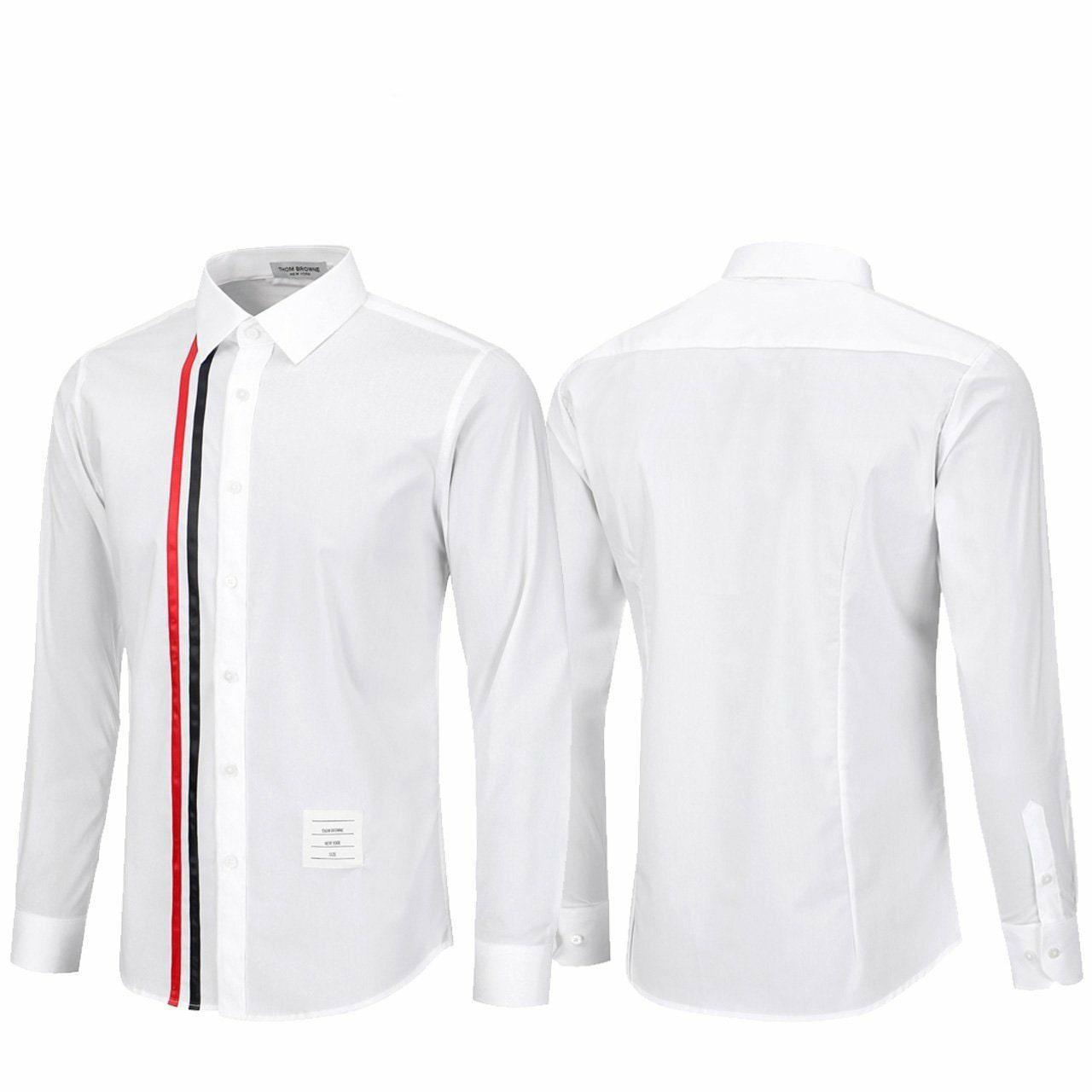 톰브라운 세로 삼선 스판 셔츠