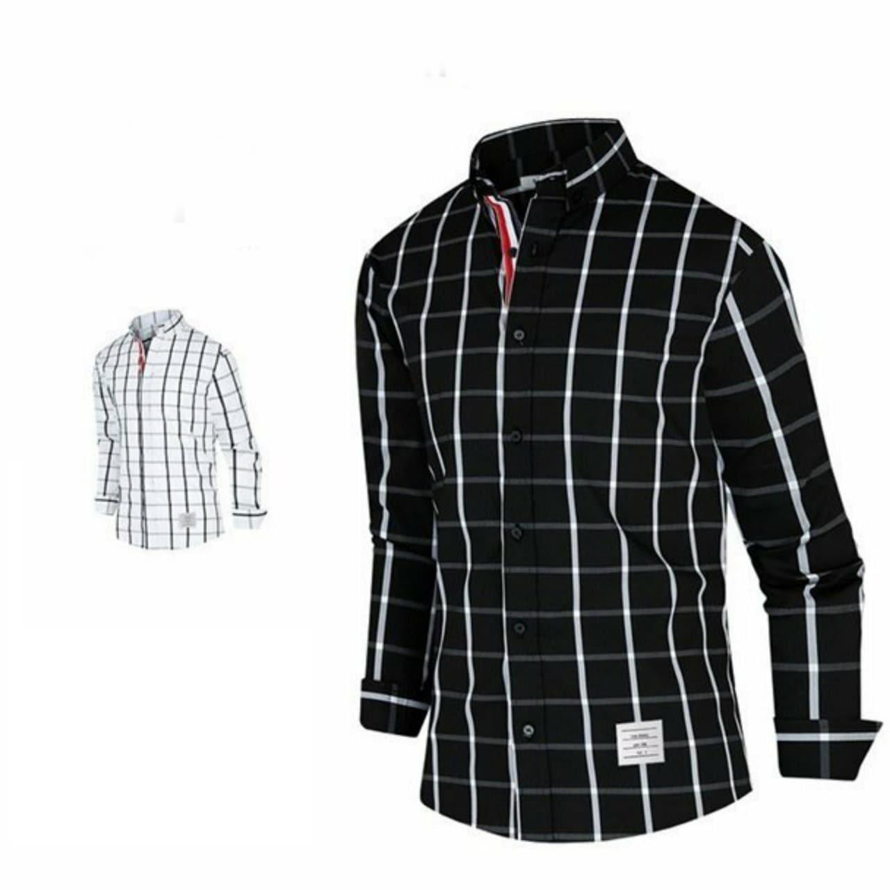 톰브라운 체크 셔츠