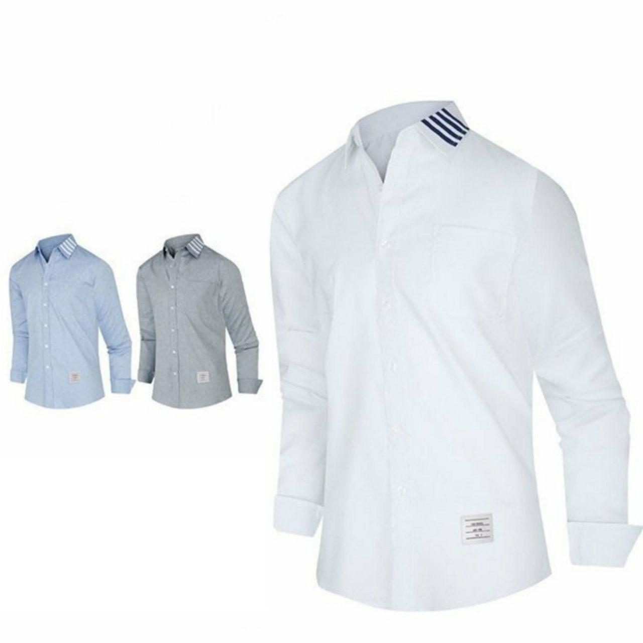 톰브라운 카라 사선포인트 셔츠
