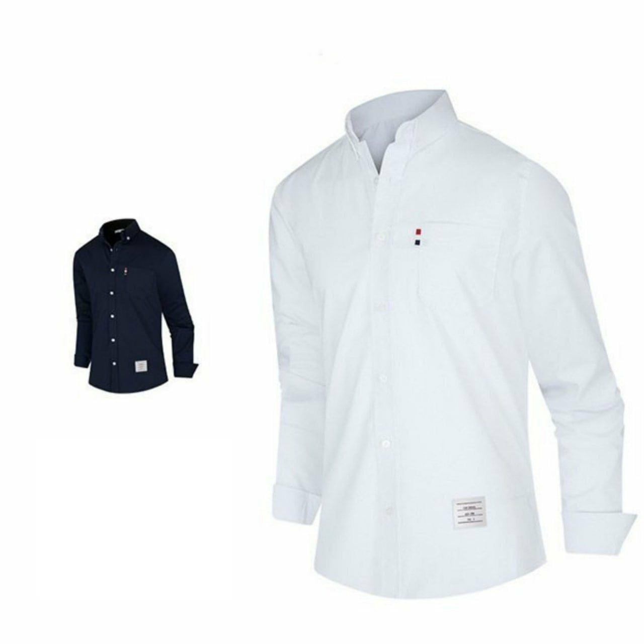 톰브라운 포켓 삼선포인트 셔츠