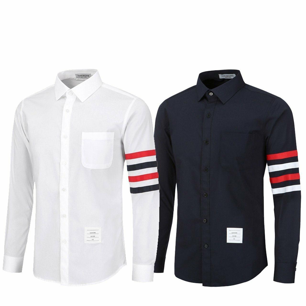 톰브라운 암사선 스판 셔츠