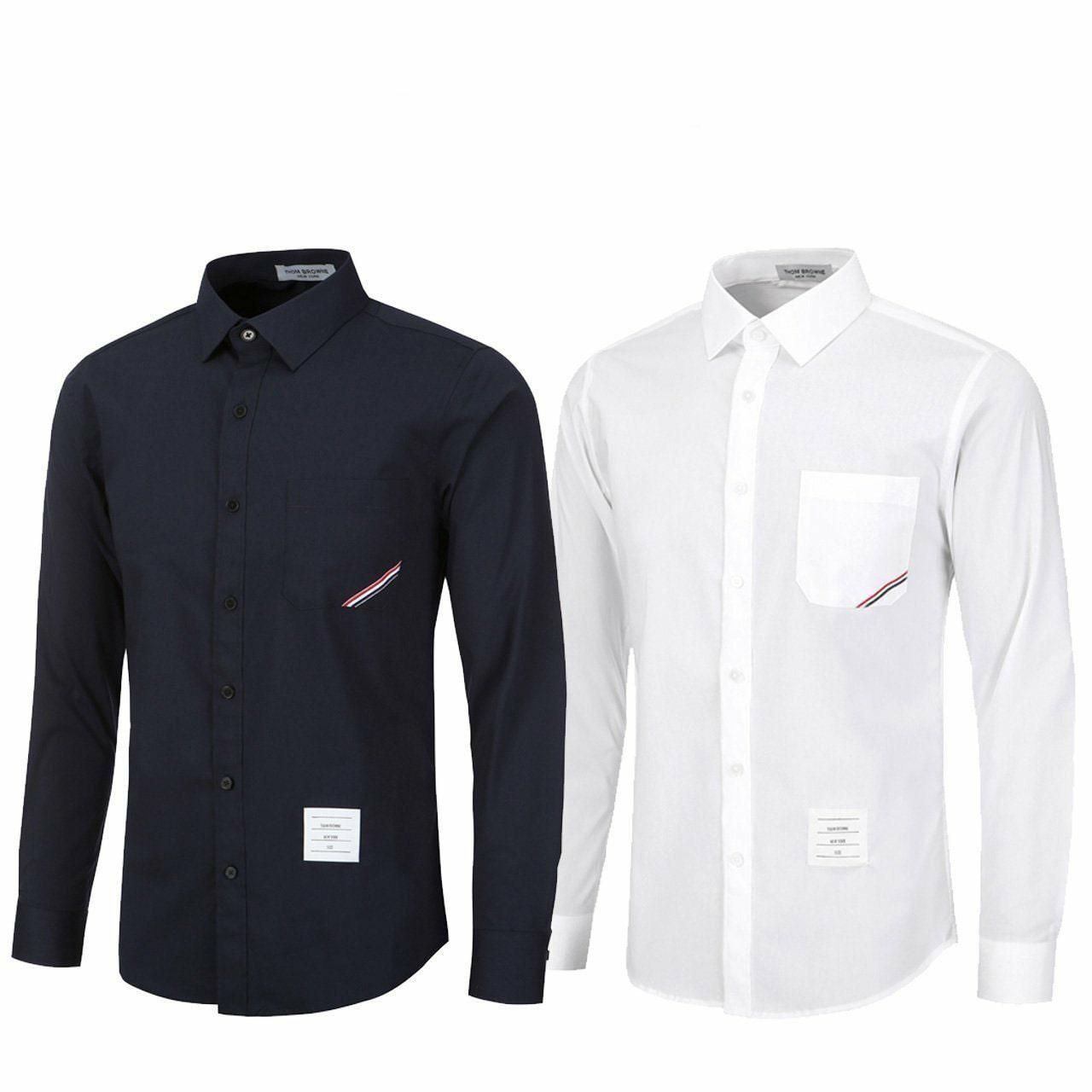 톰브라운 포켓포인트 셔츠