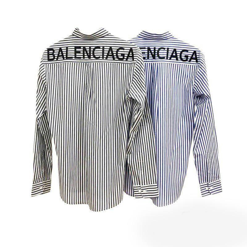 발렌시아가 스트라이프 셔츠